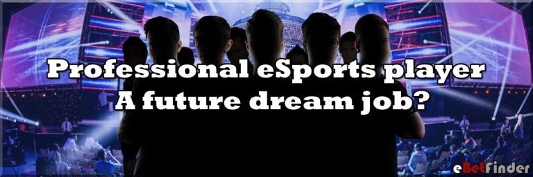 Header for article about professional eSports player as a future dream job