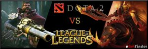 Header for article about Dota 2 vs LoL