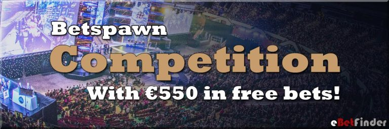 Betspawn competition 550 euro in free bets