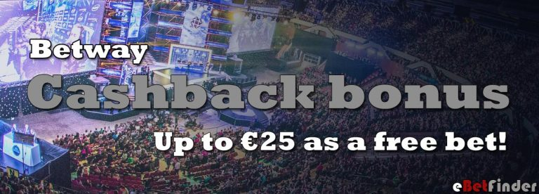 Betway cashback bonus as a free bet
