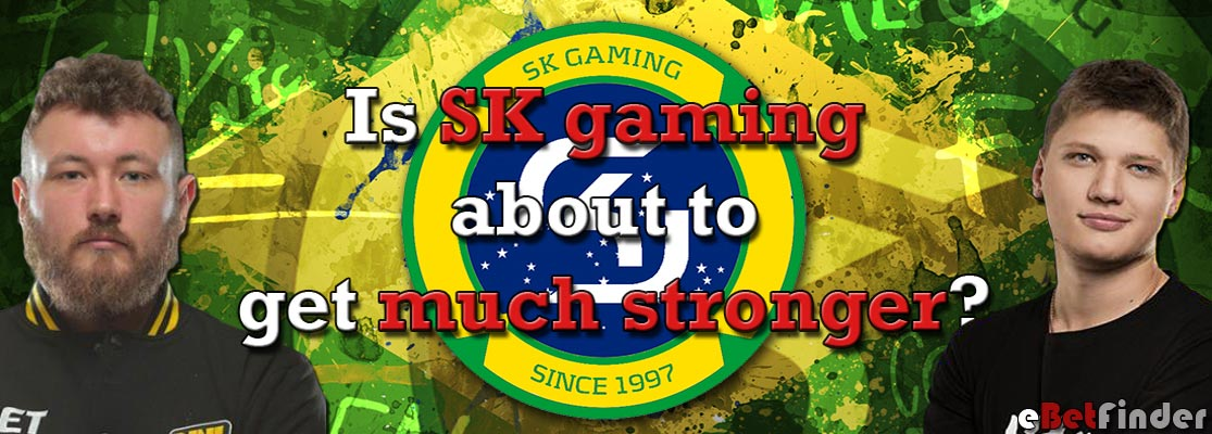 Header for SK gaming recruting s1mple and flamie